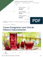→ Como Emagrecer com Chá de Hibisco até 10kg em 3 Dias! 【SAIBA MAIS】