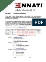 CL 440 Preinstallation Manual