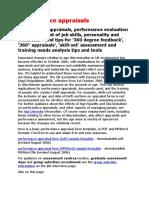 Performance Appraisals
