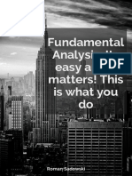 Fundamental Analysis. Its Easy and It Matters This is What You Do