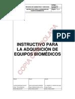 instructivo para adquisicion de equipo biomedico