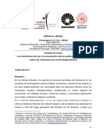 Lenguas de fuego. Los feminismos del sur y la enunciación teórico-política-corporal-sexual contra las violencias euro-norte-falogocéntricas