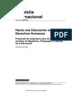 Hacia Una Educacion en DH