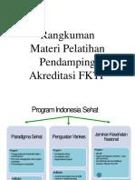 Rangkuman Materi Pendamping AKREDITASI FKTP