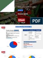 Relevamiento de Precios CESyAC JULIO 2019 · Rosario