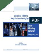 Design for Laser Welding Rev 6-2013