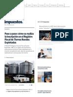 RG 4096-E AFIP - Registro Fiscal de Tierras Rurales Explotadas - Paso a Paso
