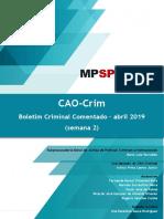 Boletim CAOCrim Abril -2.2019