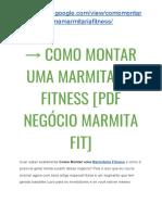 → Curso de Como Montar uma Marmitaria Fitness [Negócio Marmita Fit PDF]
