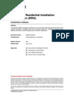 Broadband Residential Installation Specification