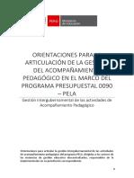 Orientaciones Articulación de La Gestión Del AP - PELA