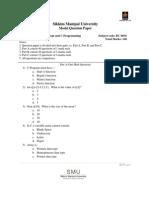 Model Question Paper BC0034