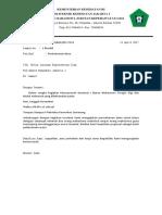 surat pengajuan dana