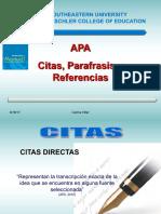APA Citas y Referencias