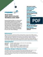 Plaster data sheet