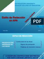 APA Estilo de Redaccion, Tablas y Graficas