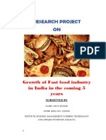 Growth of Fastfood Industries in India in Coming Five Years