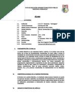 4.- Sílabo - Procedimientos Constructivos I