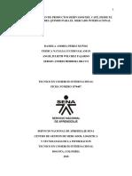 Comercializacion de Productos Derivados Del Café, Desde El Depratamento Del Quindio Para El Mercado Internacional