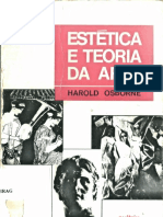 Harold Osborne. Estética e Teoria da Arte, Introdução e Capítulo I