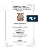 Monografia Final Sobre Postulacion Del Proceso UANCV