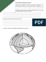 Guía de Trabajo La Estructura de La Tierra
