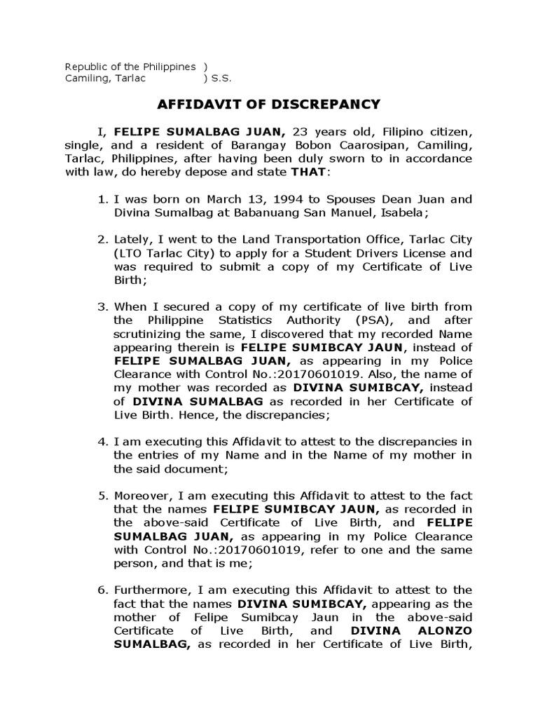 waiver | Affidavit | Document