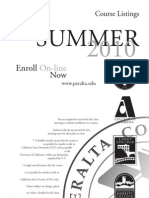 Summer 2010 Schedule-Classes Only