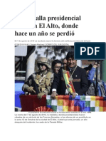 La Medalla Presidencial Vuelve a El Alto