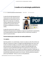 La Selección Del Medio en La Estrategia Publicitaria - GestioPolis