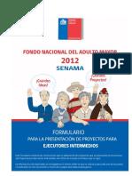 formulario PARA LA PRESENTACIÓN DE PROYECTOS