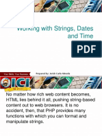 PHP Advances Series 3 - Working With Strings, Dates and Time