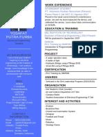 Resume - Yosafat Putra Purba (fresh graduate)