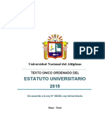 Tuo Estatuto Universitario