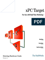 Matlab - XPC Target Selecting Hardware Guide