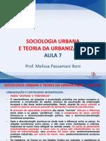 sociologia urbana e a teoria da urbanização