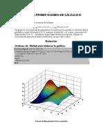 Ejemplo Exámen de Cálculo III