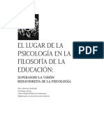 El lugar de la psicología en la filosofía de la educación