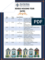 City of New Orleans Affordable Housing Tour Flyer