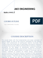 Earthquake Engineering - Course Outline