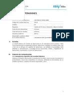 Gestion de Operaciones Silabo Mm 2017-20