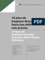 18 años de Employer Branding hacia una definición mas precisa