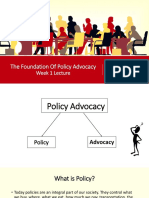 The Fundamentals of Policy Advocacy