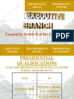 Executive Branch Powers
