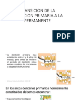 transicion de la denticion primaria a la permanete