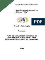 Modelo de plan de trabajo en orientación vocacional