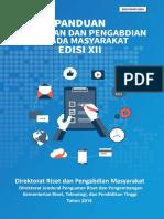 Panduan Penelitian dan Pengabdian kepada Masyarakat Edisi XII Revisi Tahun 2019 versi 2.0.pdf