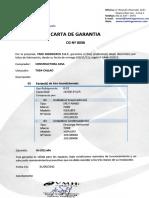 Carta Garantia N.0036-A