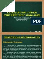 Philippine Literature Under the Republic