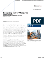 Popular Mechanics - Repairing Power Windows